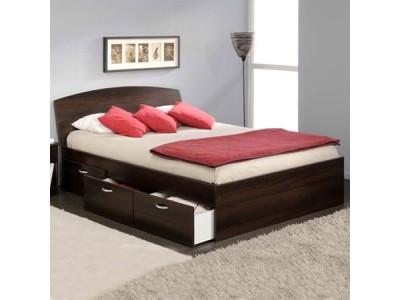 Кровать двуспальная с ящиками КЯ-2 на заказ в Саратове