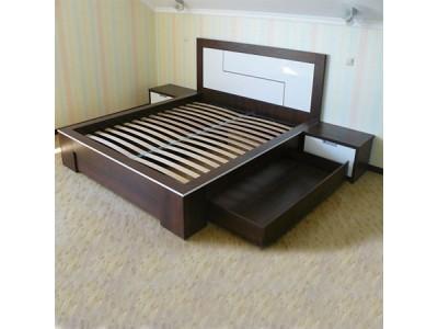 Кровать двуспальная с ящиком КЯ-3 на заказ в Саратове