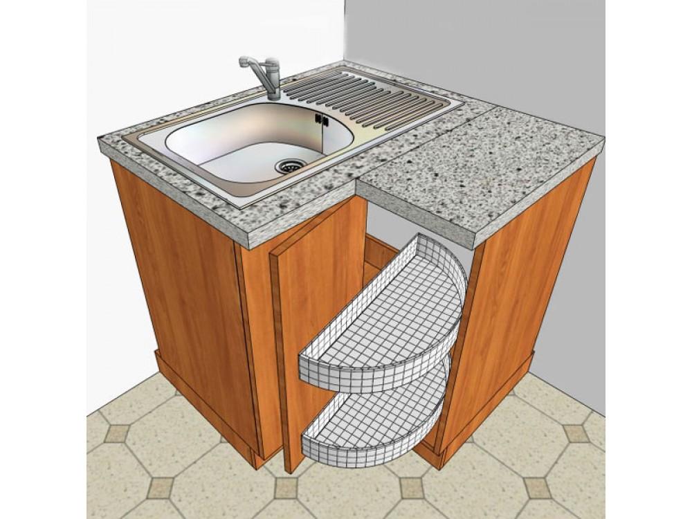 Как сделать угловой шкаф для кухни 213