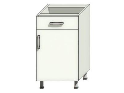 Напольная кухонная тумба с одной дверцей и ящиком на заказ в Саратове