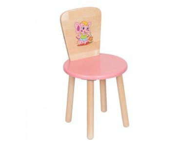Детский стул с круглым сиденьем и спинкой на заказ в Саратове