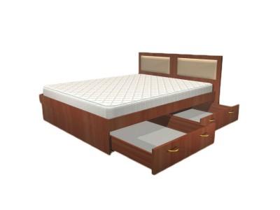 Кровать двуспальная с ящиками КЯ-1 на заказ в Саратове