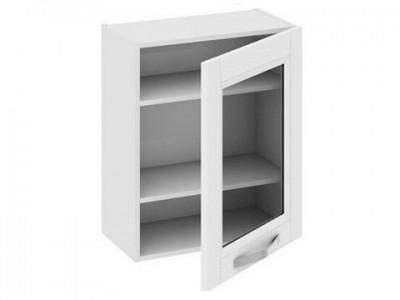 Навесной кухонный шкаф со стеклом на заказ в Саратове