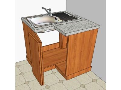 Угловой кухонный шкаф для мойки на заказ в Саратове