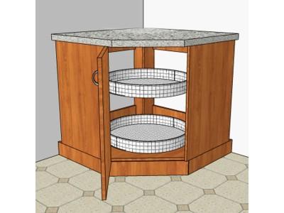 Напольный угловой кухонный шкаф на заказ в Саратове