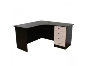 Угловой офисный стол с тумбой