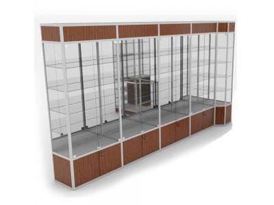 Торговая витрина пятисекционная
